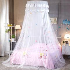 圆顶吊顶蚊帐(婴儿儿童圆顶) 上圆直径0.65米 白色