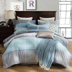 2018新款-全棉生态磨毛四件套 1.2m(4英尺)床 11穆娅-蓝