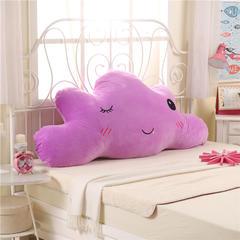幸福草刺绣云朵靠背 1.2m 紫色