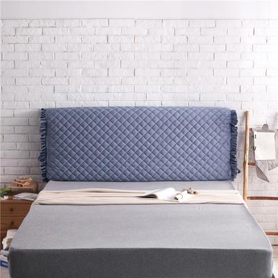 超柔夹棉床头罩 1.5米 宝蓝