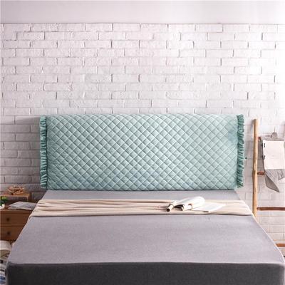 超柔夹棉床头罩 1.5米 草绿