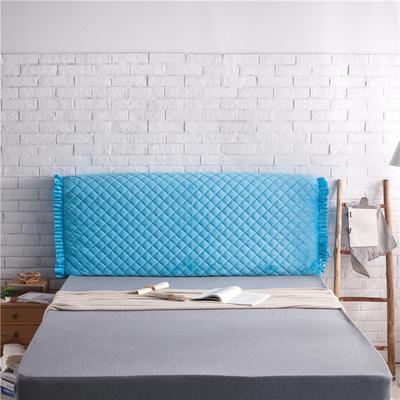 超柔夹棉床头罩 1.5米 深蓝