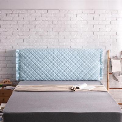 超柔夹棉床头罩 1.5米 天蓝