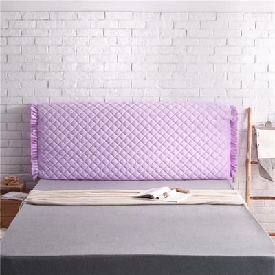 超柔夹棉床头罩 1.5米 雪青