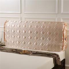水洗仿真丝夹棉床套 1.8米 米色