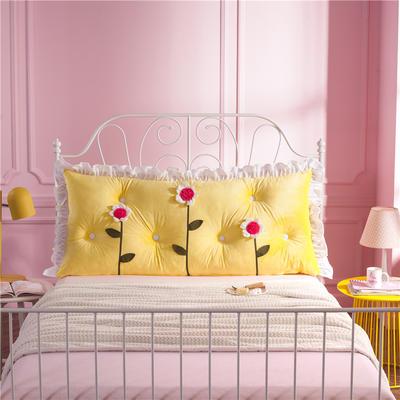 韩式剪花床靠背 150*70 花儿朵朵 黄