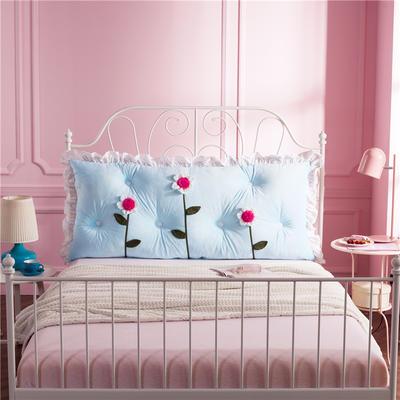 韩式剪花床靠背 150*70 花儿朵朵 天蓝