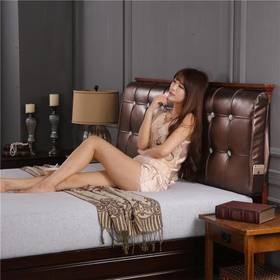 环保革皮质靠背(床头款) 150*10*60 巧克力色