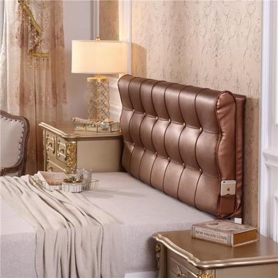 皮革曲面S型床头软包(床头款) 150*10*60 咖啡色
