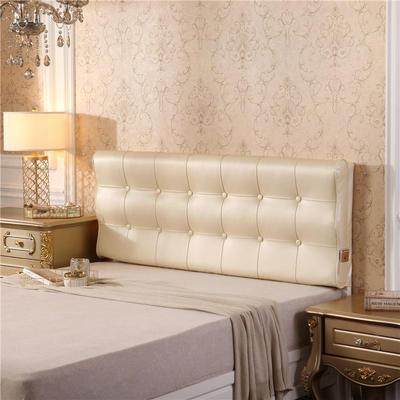 皮革曲面S型床头软包(床头款) 150*10*60 米白色