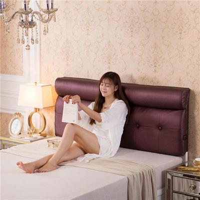 皮革压花床头软包(床头款) 150*10*60 紫红色