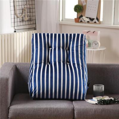 无印良品绒布多功能腰靠 大号长55X60cm护腰款 蓝条