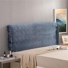 2018新款-秋冬新品天使之翼床头罩 1.2米高度适合65CM以下的床使用 宝蓝