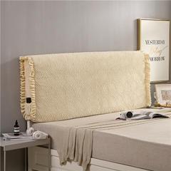 2018新款-秋冬新品天使之翼床头罩 2.1米高度适合65CM以下的床使用 米黄