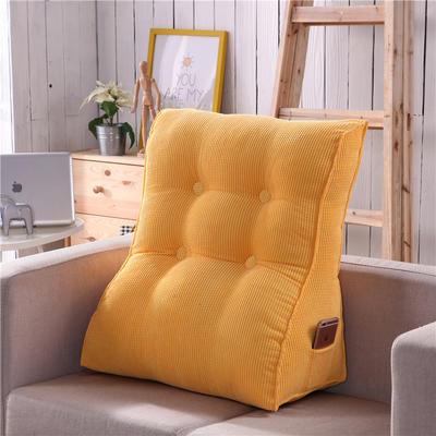 2018新款-玉米粒多功能腰靠 大号长55X60cm护腰款 黄色