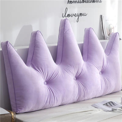 北欧皇冠靠枕 180x80cm 浅紫色