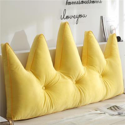 北欧皇冠靠枕 180x80cm 黄色