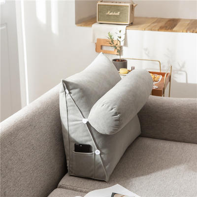 2020新款-简约轻奢风沙发调节靠枕 大号 长60*高50*宽22 纳多灰