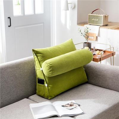 2020新款-简约轻奢风沙发调节靠枕 大号 长60*高50*宽22 清新绿