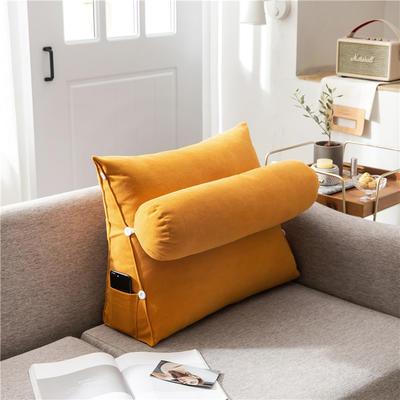 2020新款-简约轻奢风沙发调节靠枕 大号 长60*高50*宽22 时尚橙