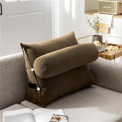 2020新款-简约轻奢风沙发调节靠枕 大号 长60*高50*宽22 香槟驼