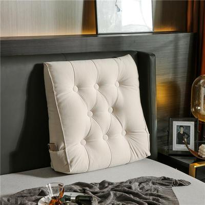 2020新款-现代轻奢款沙发靠枕 简爱系列 长*高*厚55*60*20CM 靠枕 贵族白