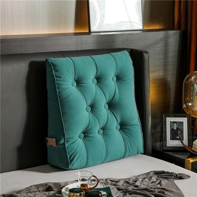 2020新款-现代轻奢款沙发靠枕 简爱系列 长*高*厚55*60*20CM 靠枕 孔雀绿