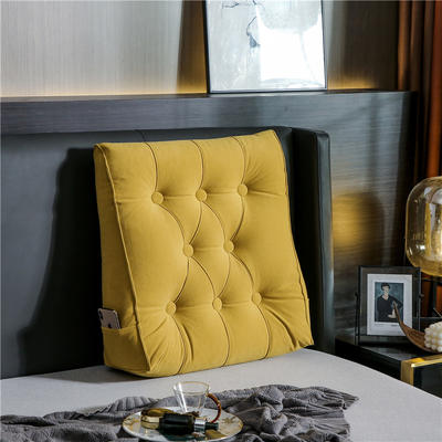 2020新款-现代轻奢款沙发靠枕 简爱系列 长*高*厚55*60*20CM 靠枕 流光黄