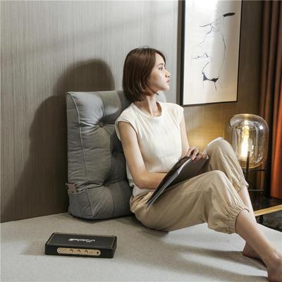 2020新款-现代轻奢款沙发靠枕 简爱系列 长*高*厚55*60*20CM 靠枕 纳多灰