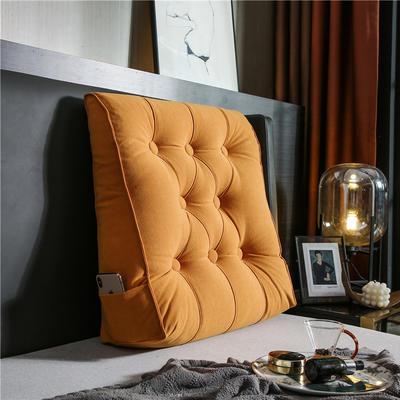 2020新款-现代轻奢款沙发靠枕 简爱系列 长*高*厚55*60*20CM 靠枕 时尚橙