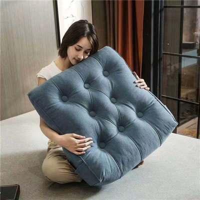 2020新款-现代轻奢款沙发靠枕 简爱系列 长*高*厚55*60*20CM 靠枕 宾利蓝