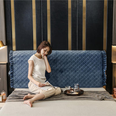 2020新款-意式轻奢款床头罩 小幸运系列 1.5米 小幸运 藏蓝