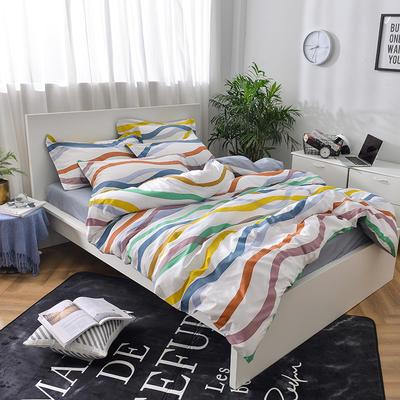 彩虹家居-全棉13070北欧小清新系列 1.2m(4英尺)床 消逝的彩虹