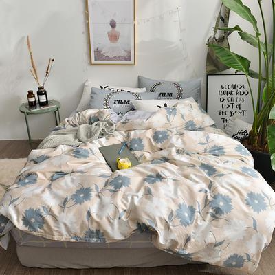 2018新款彩虹家居-全棉13070北欧唯美四件套 1.8m(6英尺)床 玛奇朵