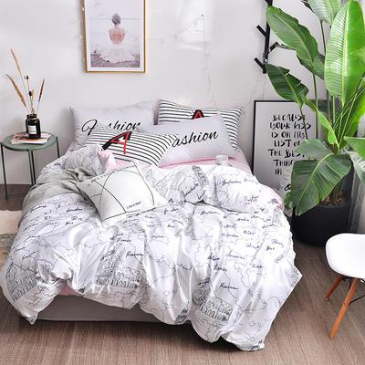2018新款彩虹家居-全棉13070北欧唯美四件套 1.8m(6英尺)床 情迷欧罗巴