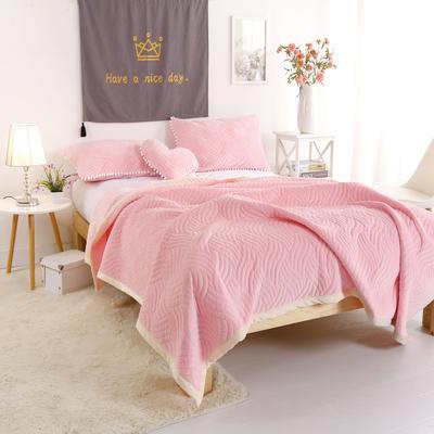 迷尚美式休闲复合毛毯 150*200 粉色