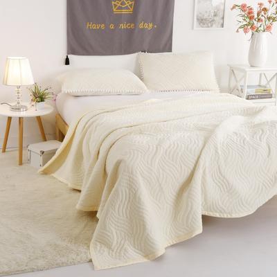 迷尚美式休闲复合毛毯 150*200 米黄