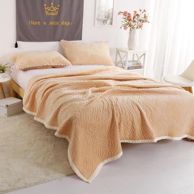 迷尚美式休闲复合毛毯 150*200 驼色