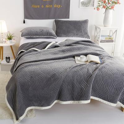 迷尚美式休闲复合毛毯 150*200 灰色