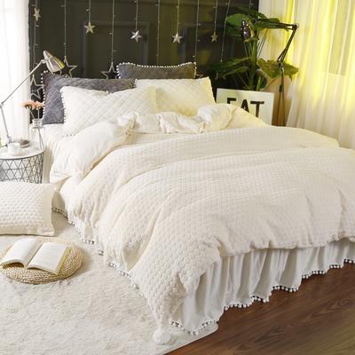 小兔绒四件套系列 1.2m(4英尺)床 米黄