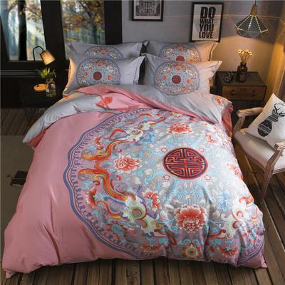 迷尚家纺 13372全棉中国风系列四件套 1.5*1.8m床 青玉案