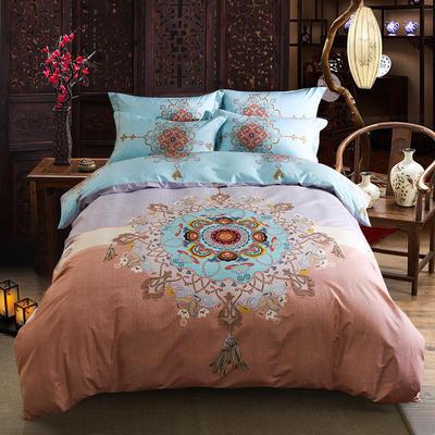 迷尚家纺 13372全棉中国风系列四件套 1.5*1.8m床 丰年瑞