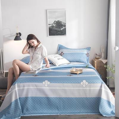2019新款900D竹语冰丝凉席三件套床单款 250*250cm 彩云格-兰灰