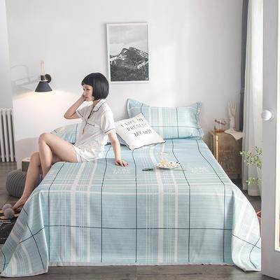 2019新款900D竹语冰丝凉席三件套床单款 250*250cm 格调-草绿
