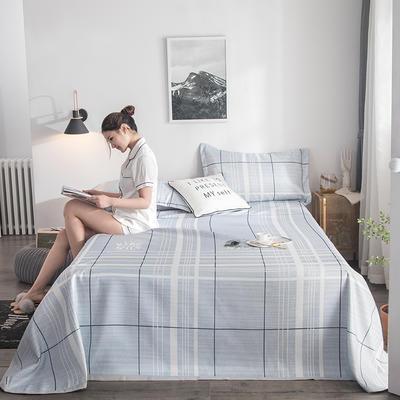 2019新款900D竹语冰丝凉席三件套床单款 250*250cm 格调-靓灰