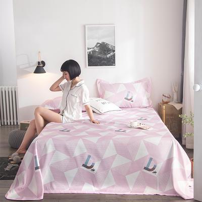 2019新款900D竹语冰丝凉席三件套床单款 250*250cm 几何元素-豆沙
