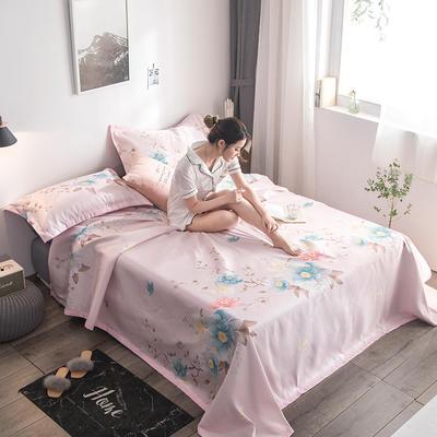 2019新款900D竹语冰丝凉席三件套床单款 250*250cm 梦里花-粉玉