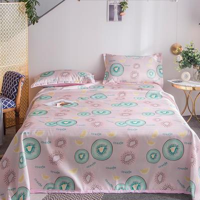 2019新款900D竹语冰丝凉席三件套床单款 250*250cm 猕猴桃-粉
