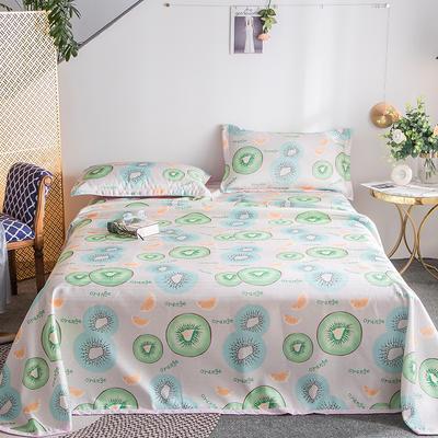 2019新款900D竹语冰丝凉席三件套床单款 250*250cm 猕猴桃-绿