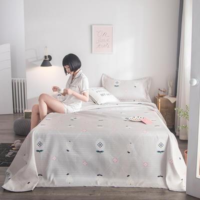 2019新款900D竹语冰丝凉席三件套床单款 250*250cm 水果蜜语-米灰